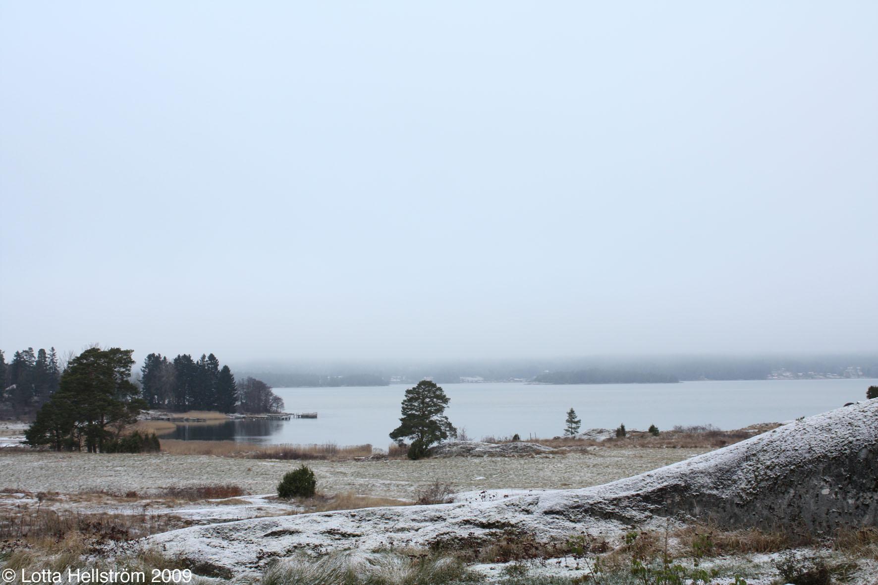 Vintermorgon vid Bråviken